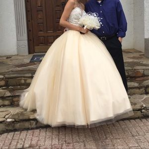 quince ball gown